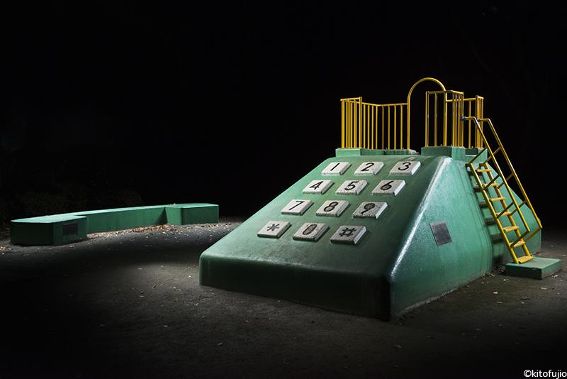 Sesión de fotografía nocturna en parques infantiles