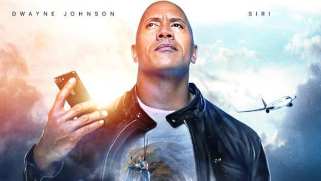 comercial de Apple protagonizado por The Rock y Siri
