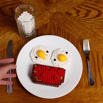 Así sería un buen desayuno en un mundo hecho con LEGO