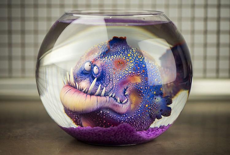 esculturas inspiradas en criaturas marinas