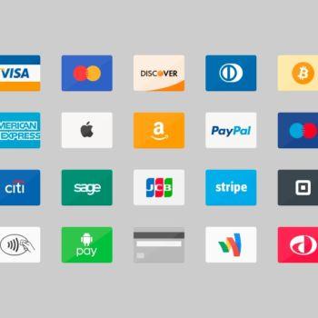 Iconos en PSD de tarjetas de crédito para descargar gratis