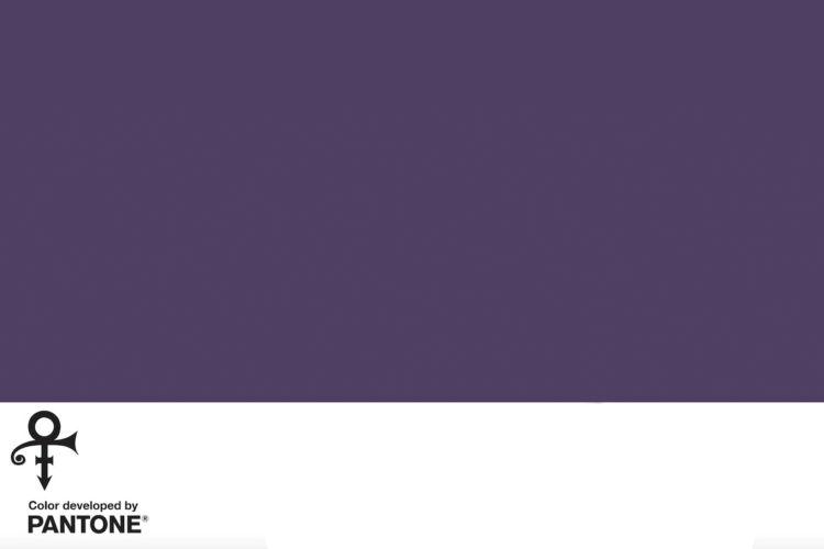 sombra purpura de Pantone creada en memoria de Prince