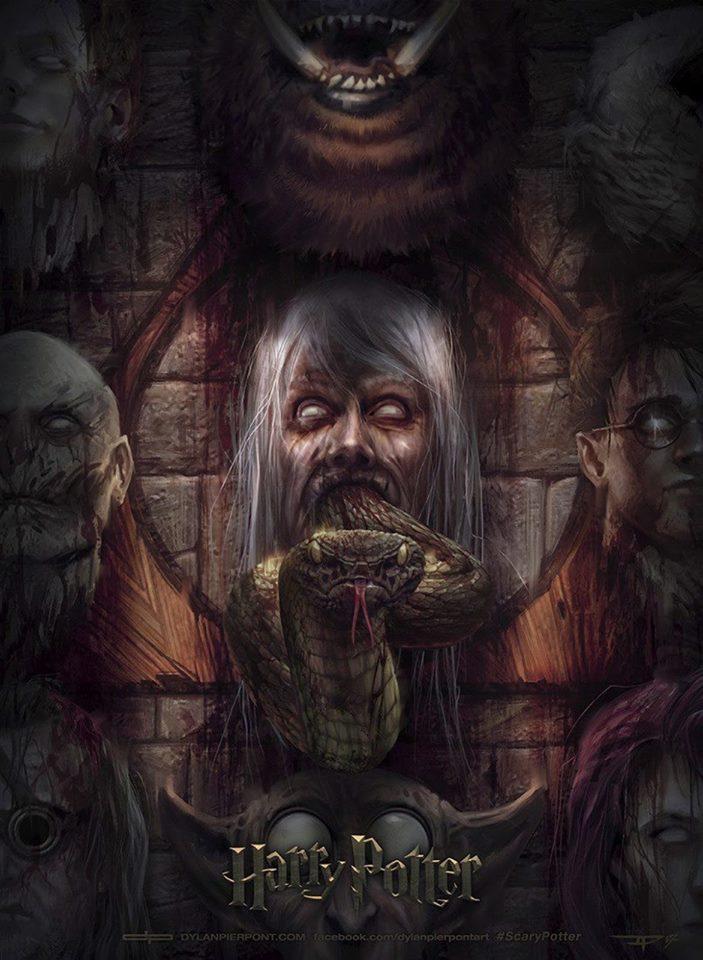 Posters de terror inspirados en la saga de Harry Potter
