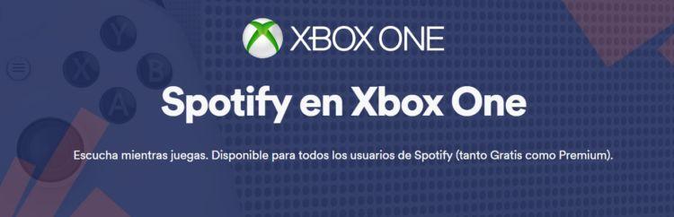 Spotify en Xbox One