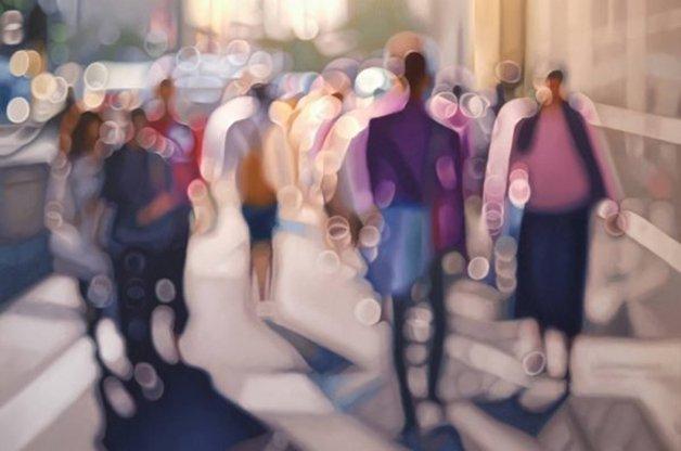 Pinturas muestran como ven el mundo las personas con Miopía: Philip Barlow