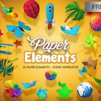 30 Figuras de papel 3D en PSD para utilizar con Photoshop gratis