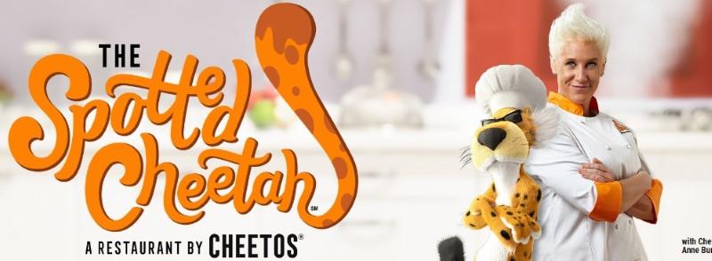 restaurante con comida hecha con Cheetos