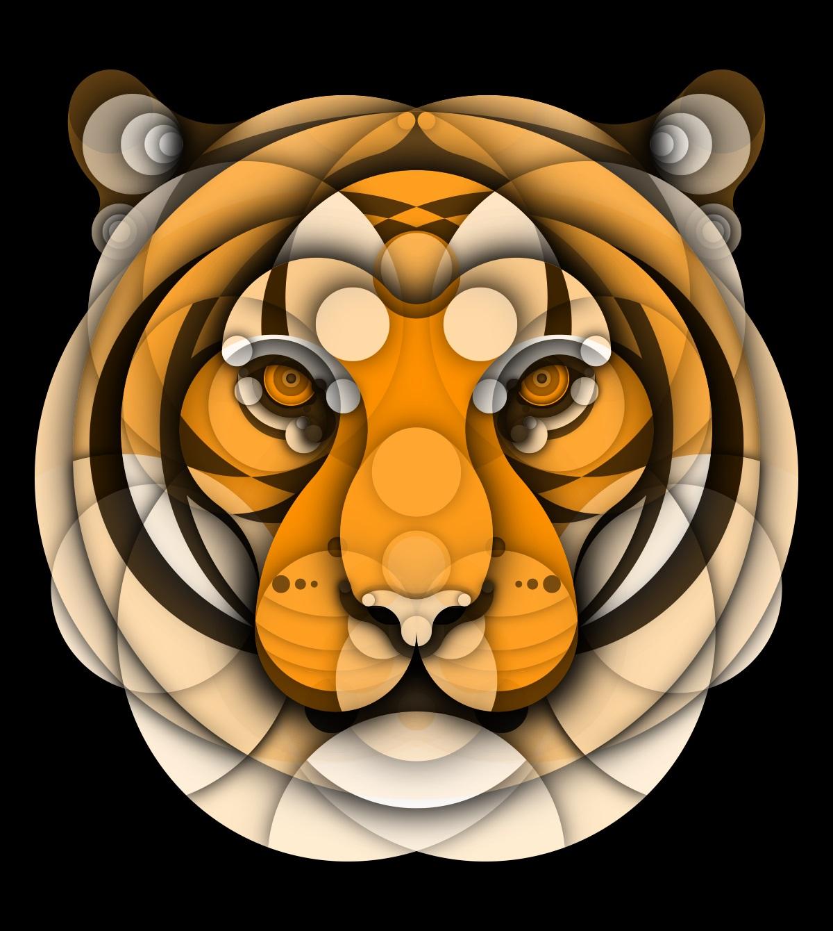 Animales hechos con círculos