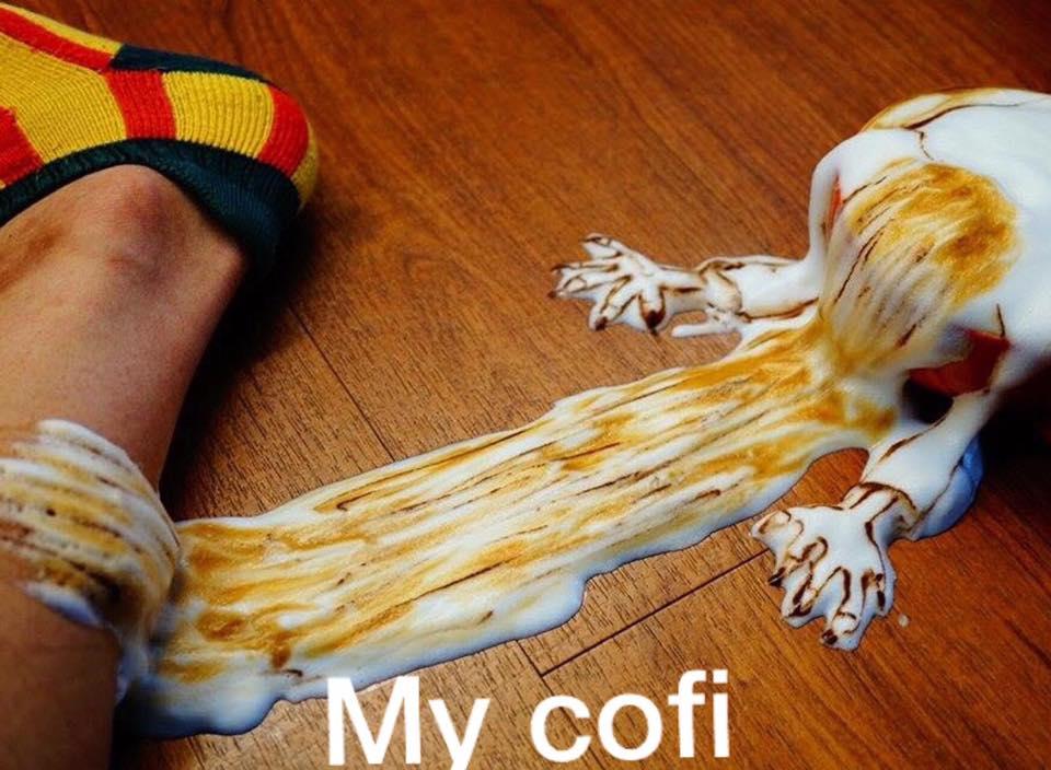 Arte 3D en tazas de cafe