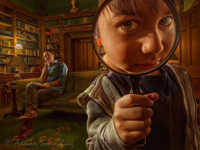 Aventuras surrealistas padre e hijo