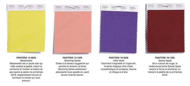 colores tendencia para 2018