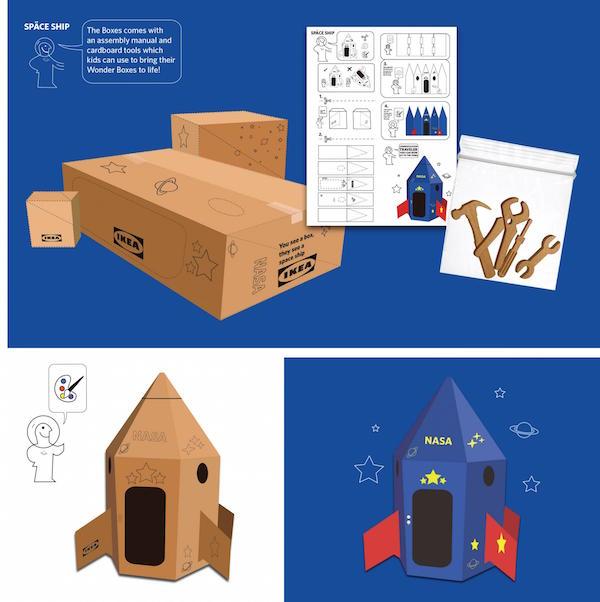 Nave espacial en cajas de IKEA