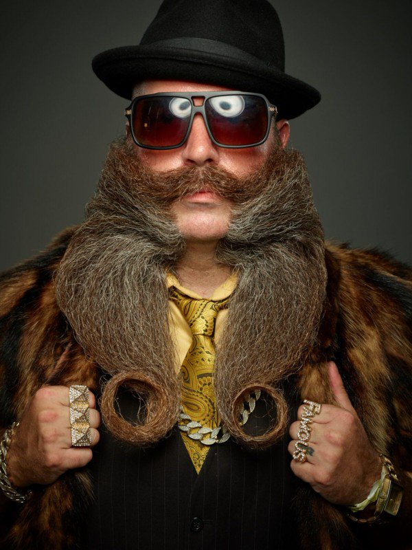 Retratos del campeonato mundial de barba y bigote 2017