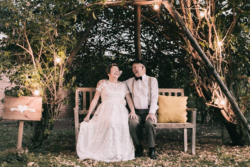 Fotògrafo recrea una boda 60 años de casados