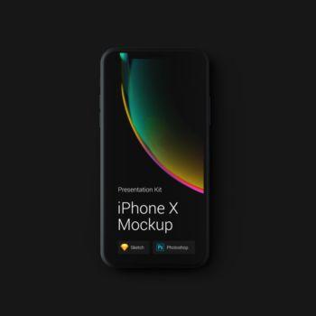 iPhone X Mockups en PSD gratis