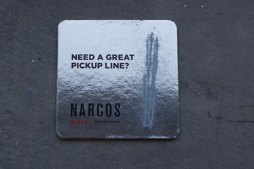 Lineas de cocaína para promocionar Narcos
