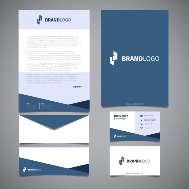 Free Vector Printable Stationery Design Template: 24 Plantillas Illustrator Gratis De Branding Y Public