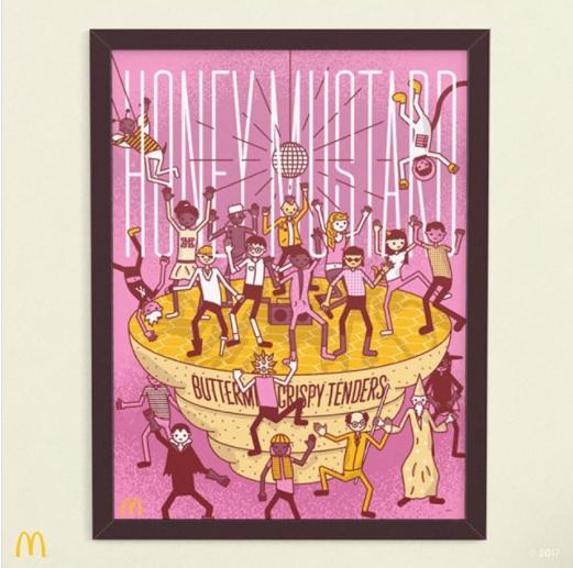 Posters sobre salsas McDonald's