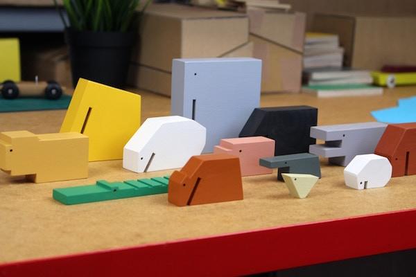 Juguetes de madera para amantes del diseño