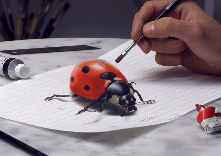 Dibujos en 3D por Stefan Pabst