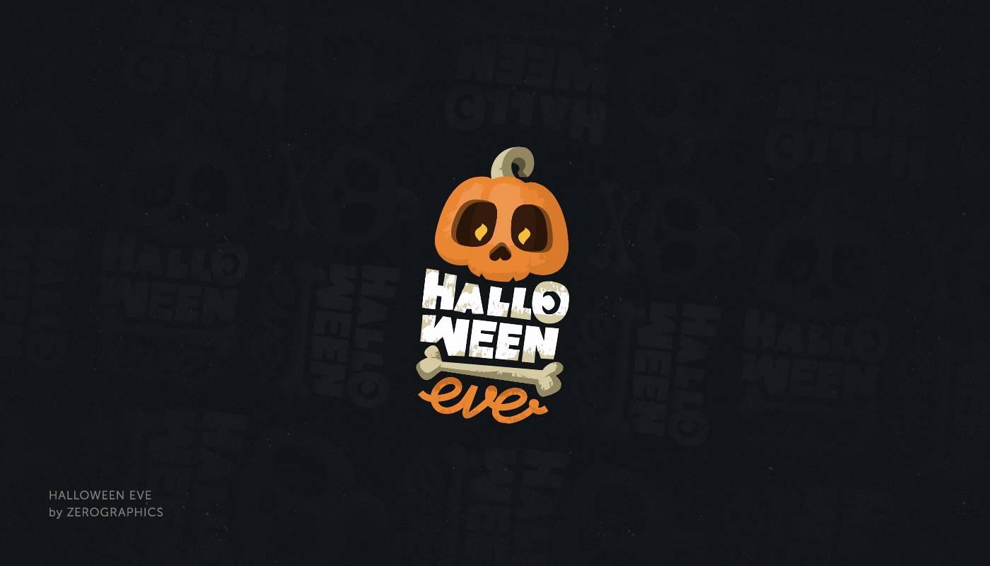 Diseños de logos inspirados en Halloween