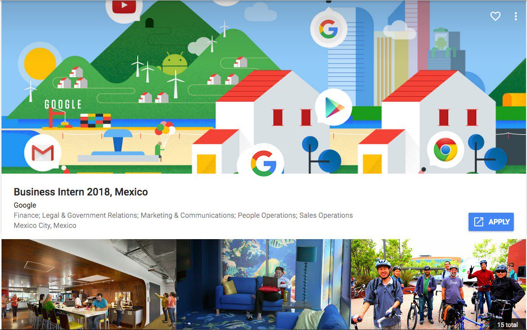 Google México tiene vacantes para universitarios