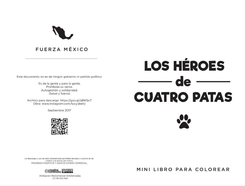 Libro para colorear basado en Frida y los héroes caninos