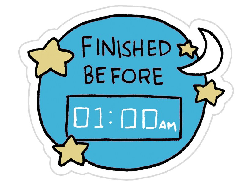 Terminar antes de la 1:00 AM