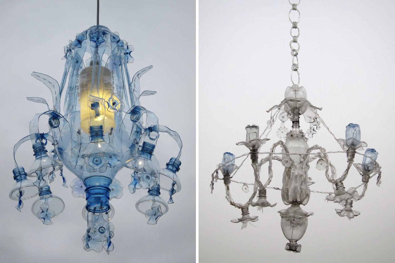 Diseños de candelabros reciclables