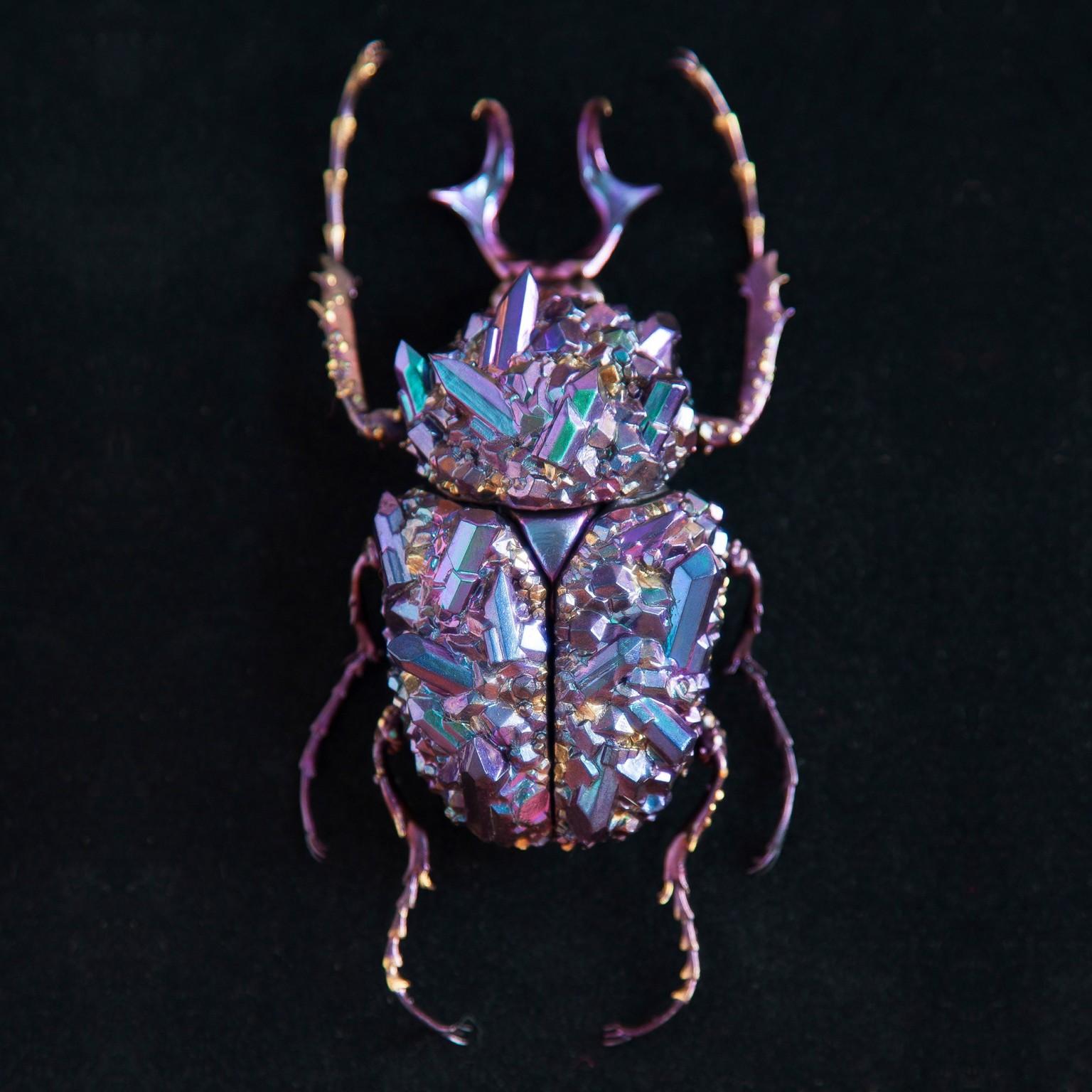 Esculturas de escarabajos