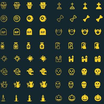 40 Nuevos iconos de Halloween gratis