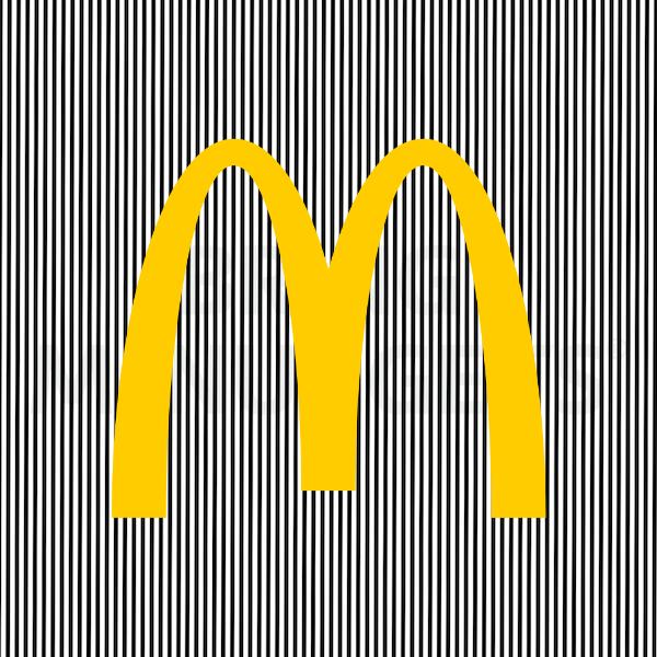 Ilusión óptica McDonald's