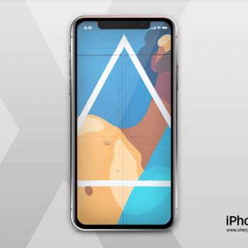 Descarga: Mockup PSD del iPhone X gratis