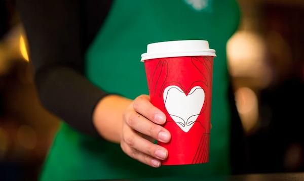 Nuevo diseño de taza navideña Starbucks