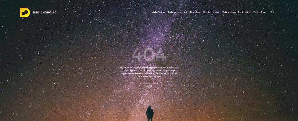 Páginas de error 404 para tu inspiración