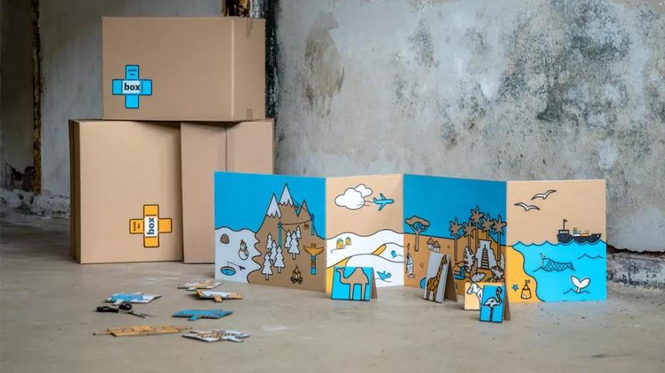 Juguetes reciclados hechos con cartón