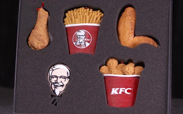 KFC lanza kit navideño para amantes del pollo frito