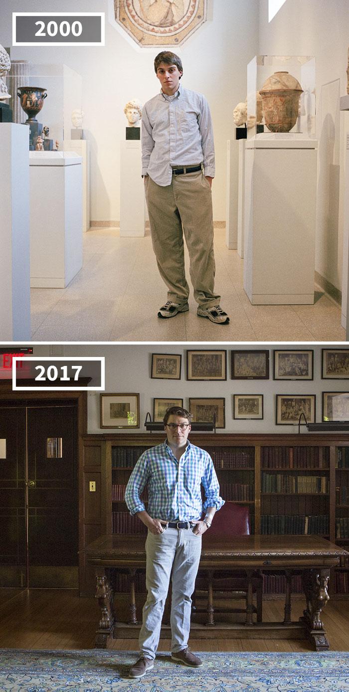 Fotógrafa retrata el paso del tiempo en sus amigos