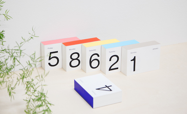 Calendario ultra minimalista