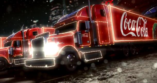 camión navideño Coca-Cola