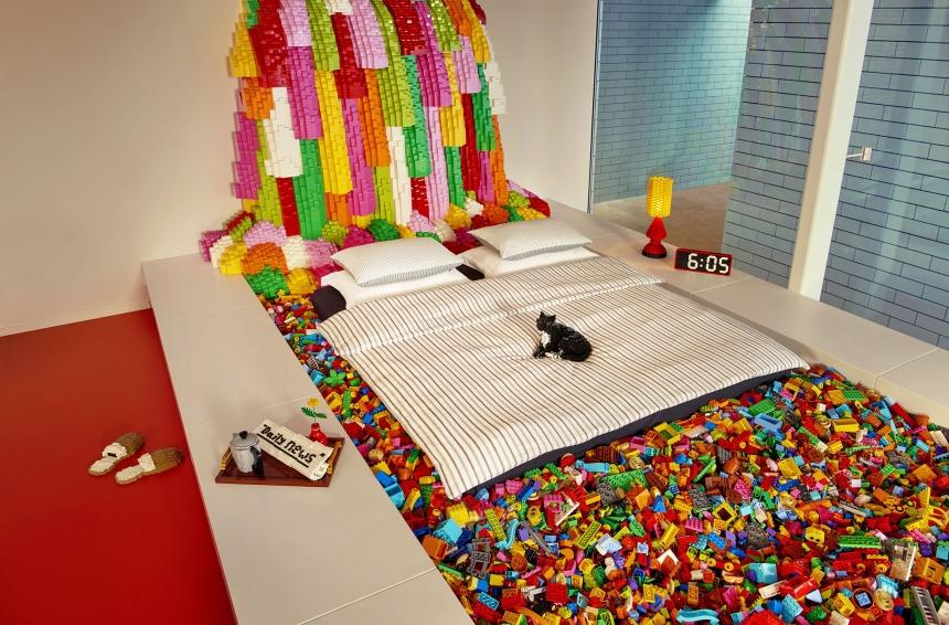 casa hecha de Lego
