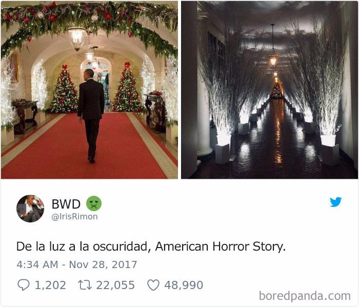 decoración navideña de Melania Trump