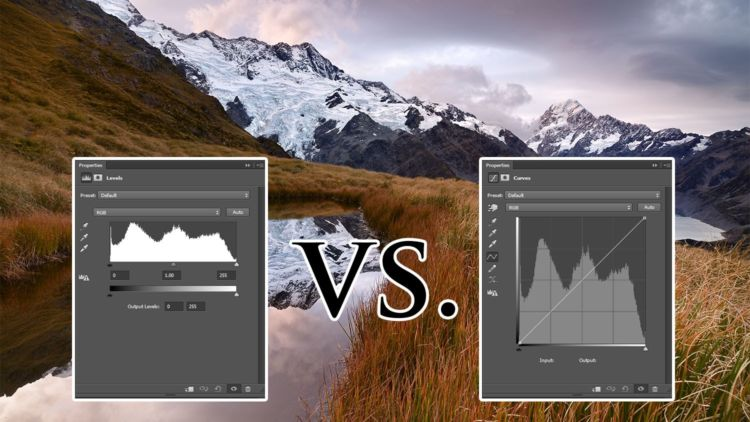 Diferencias entre niveles y curvas en photoshop