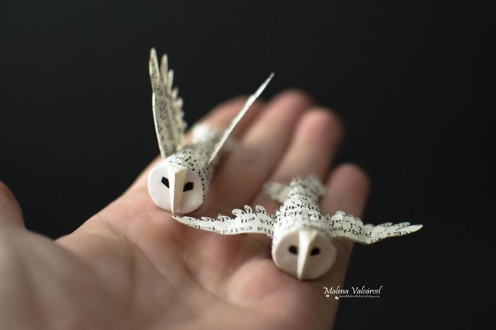 Miniaturas de papel reciclado