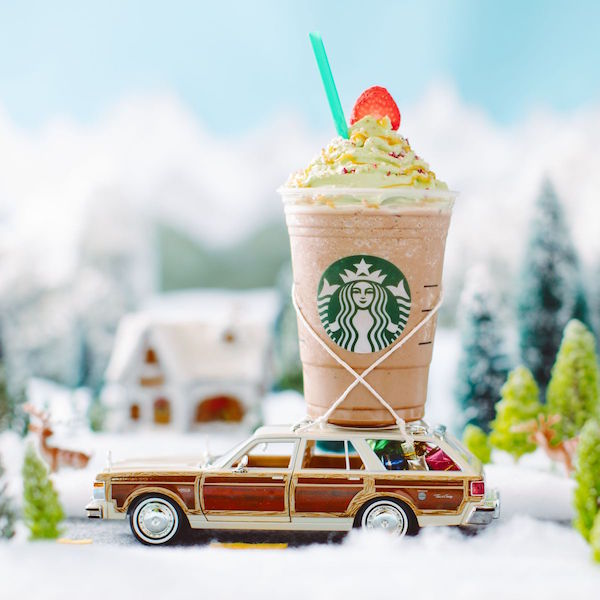 Christmas Tree Frappuccino de Starbucks