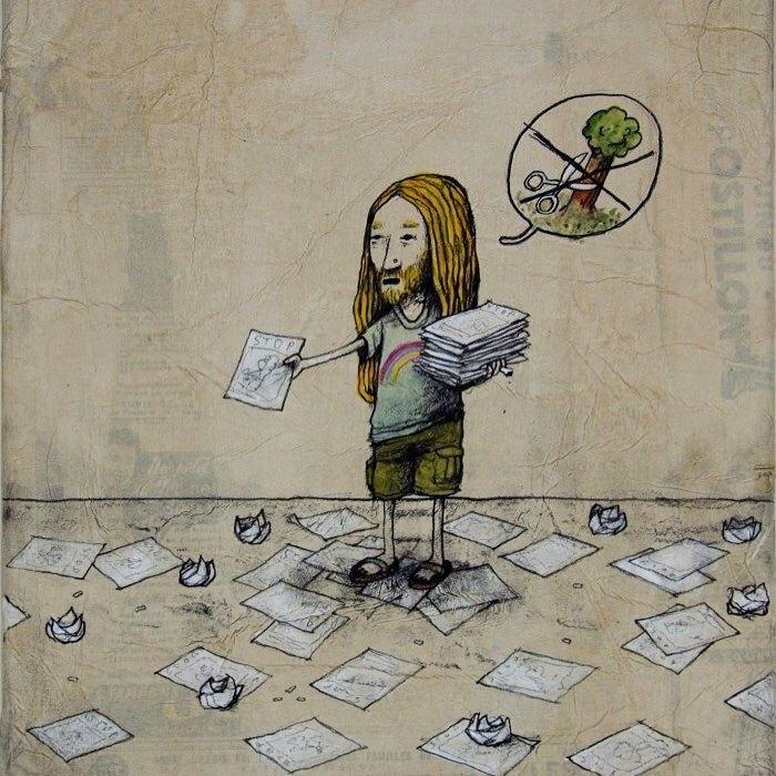 Ilustraciones satíricas por Dran
