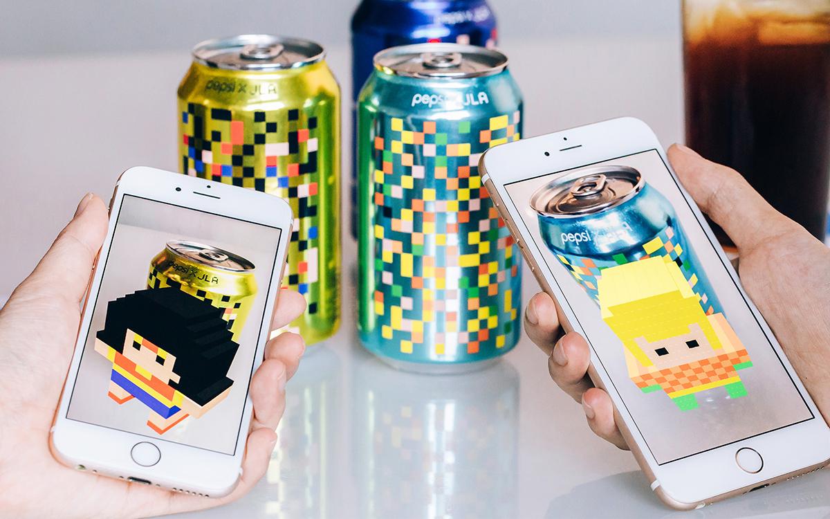 campaña de pixeles para Pepsi