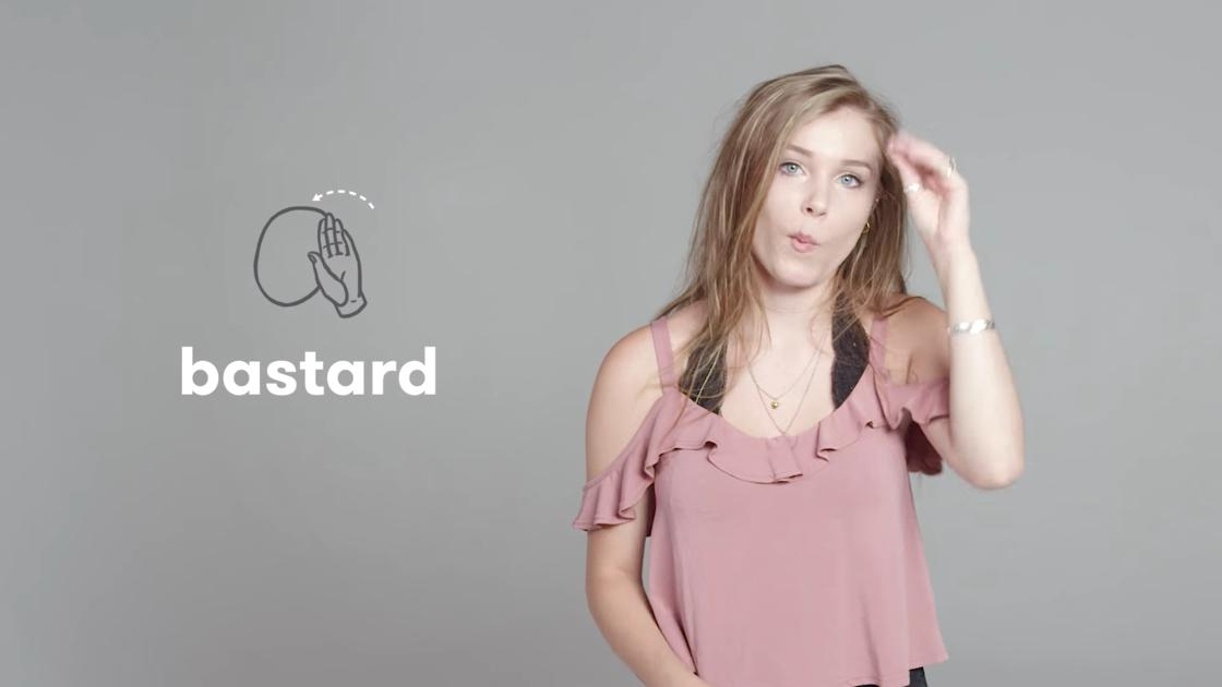 insultar en lenguaje de señas