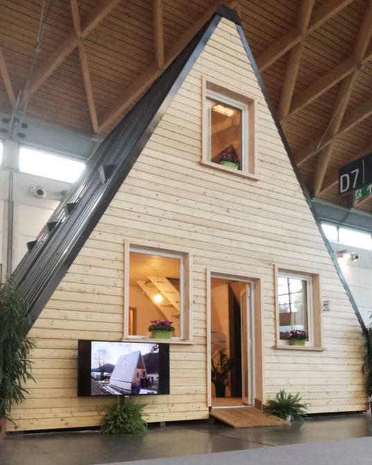 diseño sustentable de casa plegable