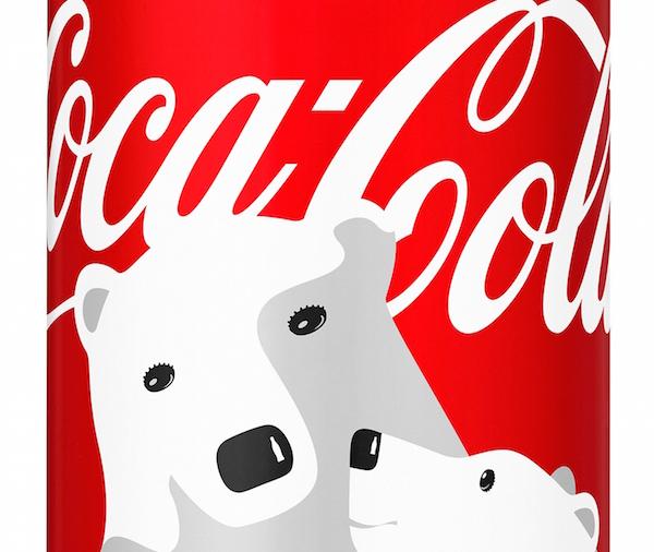 Latas navideñas de Coca-Cola